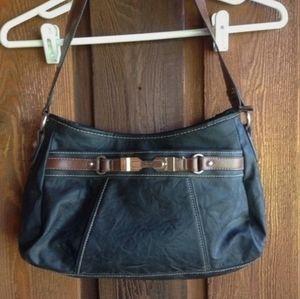 Rosetti black and tan purse